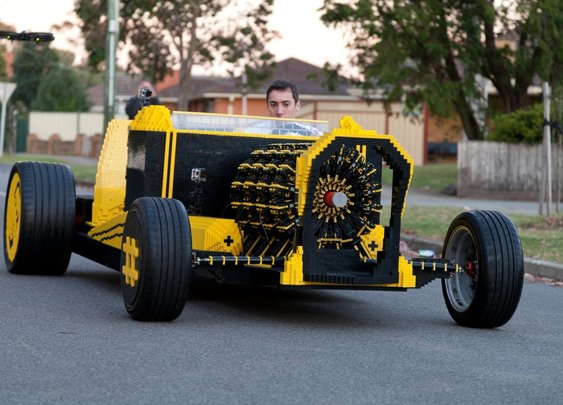 Life Size Lego Car Powered by Air - YouTube