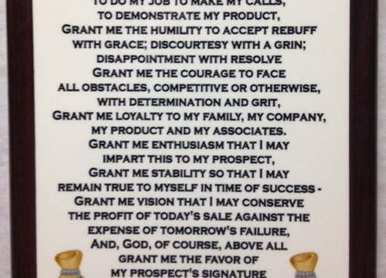 Salesman Prayer Plaque by BLCustomCreations on Etsy