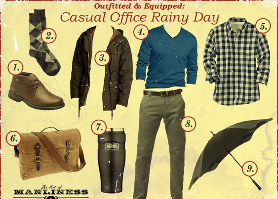 Outfitted & Equipped: Casual Office on a Rainy Day   The Art of Manliness