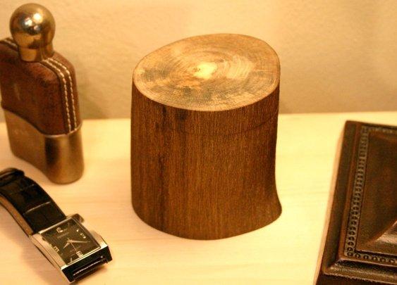 Natural wood rustic keepsake box in Japanese wood by Hope & Grace Pens