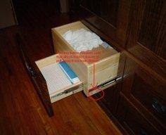 Secret Drawer in Custom Armoire   StashVault