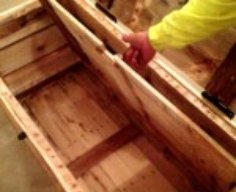 Wooden Trunk with False Floor   StashVault