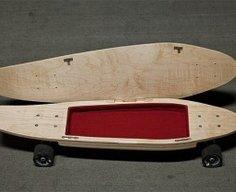 Skateboard with Secret Compartment   StashVault