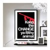 "Home Alone 'Keep the change' - 11"" x 17"" wall art"