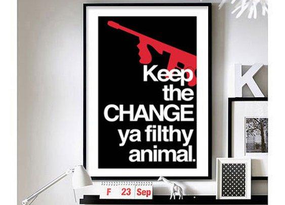 "Home Alone 'Keep the change' - 11"" x 17"" wall art"