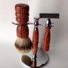 High Mountain White Shaving Set Brush Double by RoaringShepherd