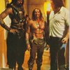Arnold next Wilt and Andre