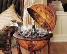 Hidden Bar in Replica Globe   StashVault