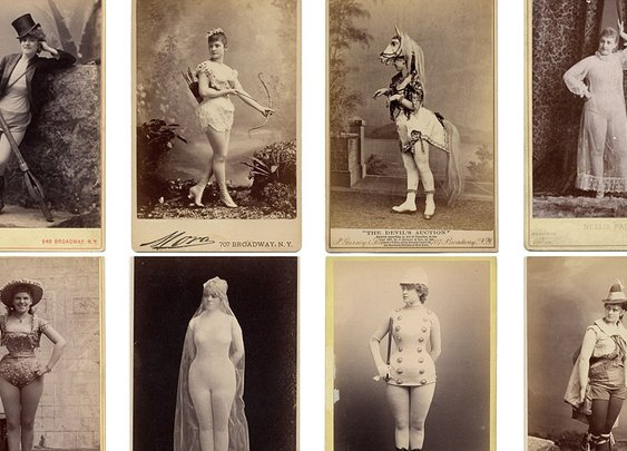 Photos reveal 'scandalous' burlesque dancers  of the 1890s
