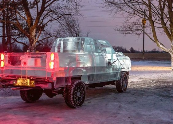 Driveable Truck made of Ice – Fubiz™