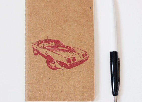 80's Pontiac Firebird notebook classic car by blackbirdandpeacock