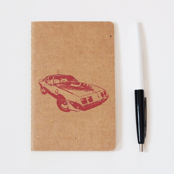 80's Pontiac Firebird notebook classic car by blackbirdandpeacock