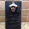 Chalkboard Magnetic Bottle Opener rare earth by LankfordManor