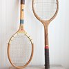 Vintage Tennis Racket  Game Room Wall Art Game Room by MollyFinds