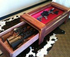 Gun Concealment/Display Coffee Table   StashVault
