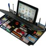 6 in 1 Desk Organizer with Bluetooth Keyboard And Tablet Stand | Gear | CoolPile.com