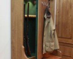 Concealed Gun Cabinet Bench/Coat Rack   StashVault