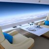 Screens to replace windows on S-512 supersonic jet