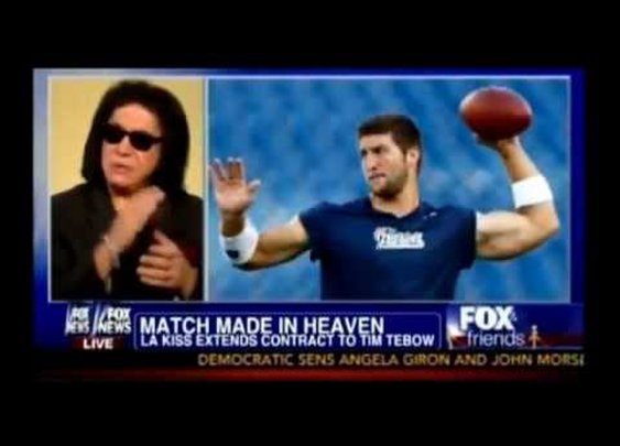 Gene Simmons and Tim Tebow - YouTube
