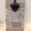 Burlap Magnetic Bottle Opener Rare earth magnet by LankfordManor