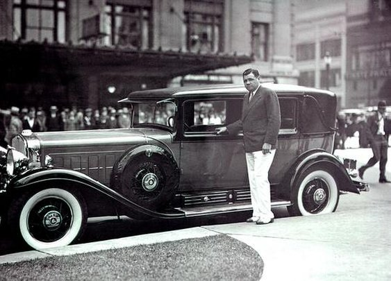 The Bambino and his Ruthian Cadillac