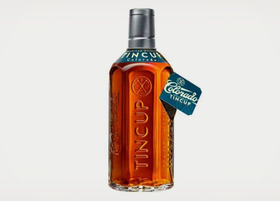 TinCup: American Made Whiskey Bottled in Colorado.