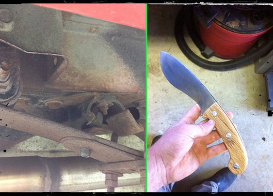 How To Make A Knife From A Car's Leaf Spring - SHTF Preparedness