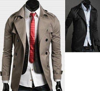 Men's Double Breasted Jacket w Belt