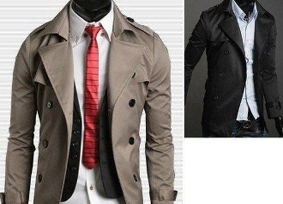 Men's Double Breasted Jacket w Belt