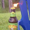 Glass Bottle Tiki Torch
