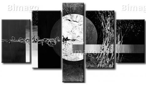Wintervollmond   Bild Auf Leinwand, Moderne Abstrakte Wandbilder   Bimago