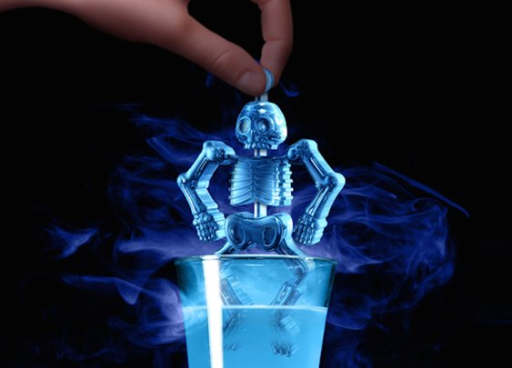 Meet Mr. Bones, a flexible ice cube
