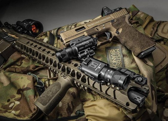 Salient Arms International AR15 and Glock 17 Tier One with RMR cut/sight