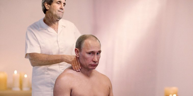 John Kerry Poses As Masseuse To Get Few Minutes With Putin   The Onion - America's Finest News Source