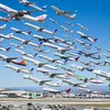 Amazing photo: 8 hours of takeoffs at LAX