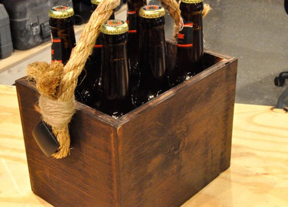 How to Make a Beer Tote: A Beginner's Woodworking Project - One Project Closer