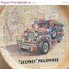 Jeepney Phillipines Souvenir Bamboo Tray