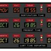 "Back to the Future Delorean Clock - 11"" x 17"" Wall Art"