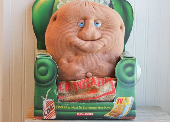 Couch Potato Vintage Plush Couch Potato Toy 1980s by MollyFinds