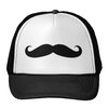Black Mustache or Black Moustache for Fun Gifts Trucker Hat from Zazzle.com