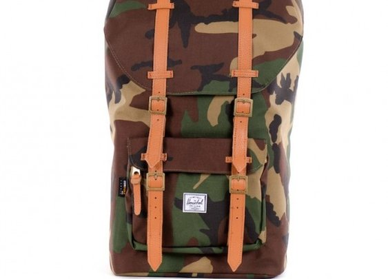 Little America Backpack Woodland Camo Hairy Suede- The Groomsmen Gifts