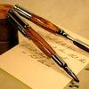 Bullet pen and letter opener set in exotic zebra by Hope & Grace Pens