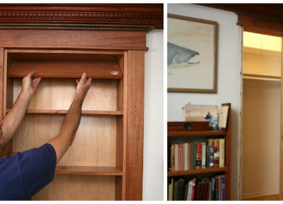 DIY Hidden Pivot Bookcase - FULL STEP BY STEP PICTURE HELP - SHTF Preparedness