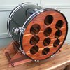 Upcycled Custom Made Bass Drum Wine Rack