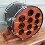 Upcycled Custom Made Bass Drum Wine Rack