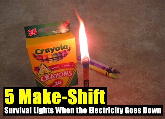 5 Make-Shift Urban Survival Lights When the Electricity Goes Down - SHTF Preparedness