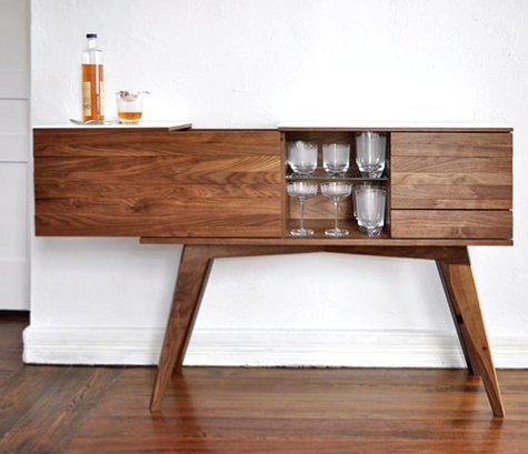 Mid century modern bar table gentlemint for Mid century bistro table