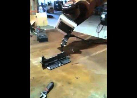 Robot Welding Torch Mounts - YouTube