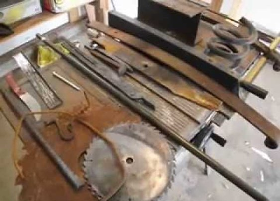 Scrap metal for starting blacksmithing - YouTube