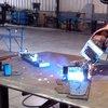 KUKA Robot welding a BurnTables Gantry Part - YouTube
